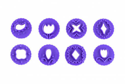 Набор штампов для мастики 8 шт