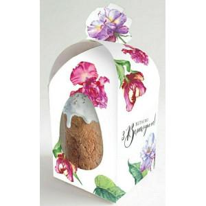 Коробка пасхальная, Цветы, 110*110*140