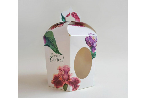 Коробка пасхальная, Цветы, 145*165*160