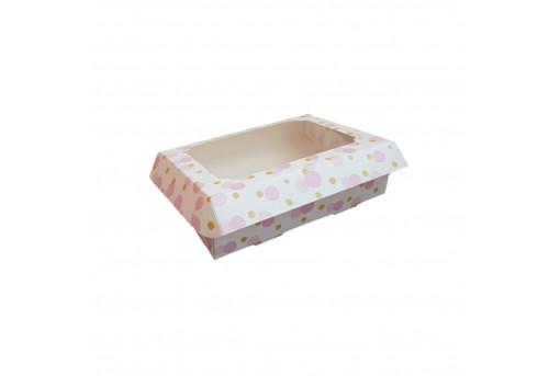 Картонная коробка для пряников 150*200*30, розовая
