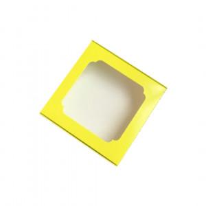 Картонная коробка на 16 конфет с перегородками, салатовая