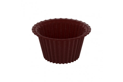 Форма бумажная для кексов, Коричневая, капсула, 50*35 мм