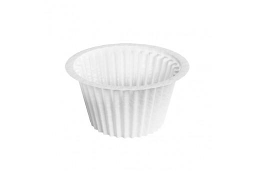 Форма бумажная для кексов, Белая, капсула, 50*35 мм