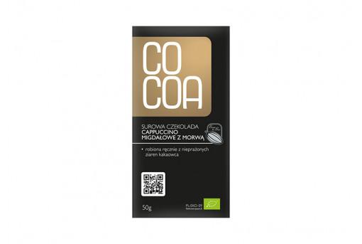 Шоколад сырой горький 55% с миндалем, кофе и шелковицей, Cocoa, 50 г