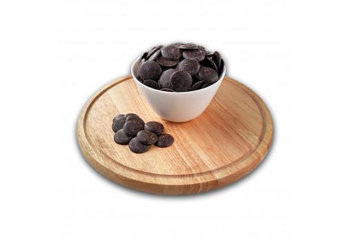 Глазурь монетки черный шоколад 15 кг, ящик
