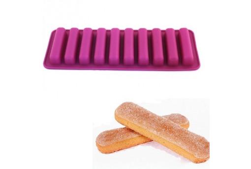 Силиконовая форма для печенья, савоярди