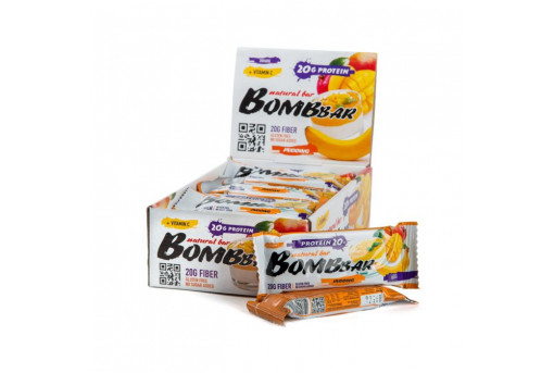Протеиновый батончик Манго-банан Bombbar, 60 г