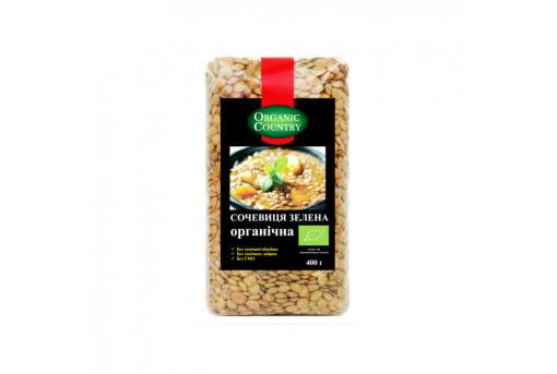 Чечевица зеленая органическая Organik Country, 400 г