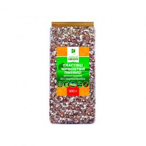 Хлопья Natural Green чернозерной пшеницы цельнозерновые без термообработки, 300 г