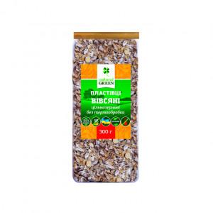 Хлопья Natural Green овсяные цельнозерновые без термообработки, 300 г
