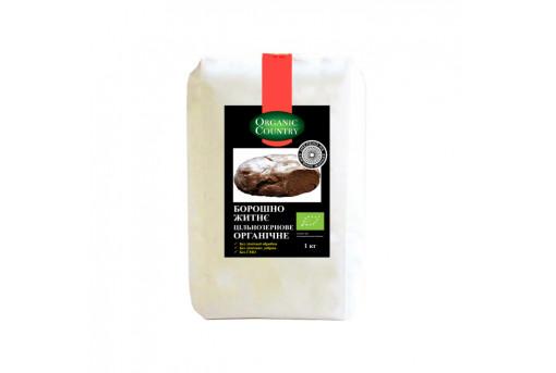 Мука ржаная цельнозерновая органическая Organik Country, 1 кг