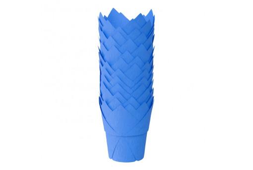 Форма тюльпан для маффинов желтая, 50*90 мм