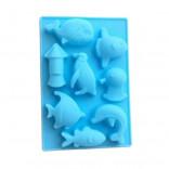 Силиконовая форма для конфет Морские рыбки