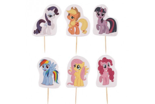 Сахарные фигурки пони и единорогов