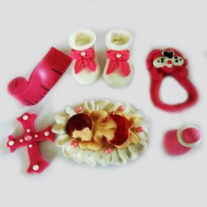 Сахарная фигурка младенца, розовая