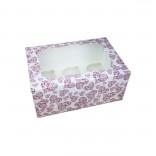 Коробка для кексов, маффинов, капкейков Сердце на 6 шт.