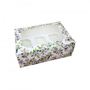 Коробка для кексов, маффинов, капкейков Весна на 6 шт.