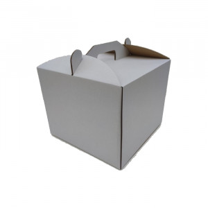 Коробка для торта белая 250*250*200