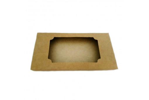 Коробка для шоколада крафтовая, 160x80x15 мм
