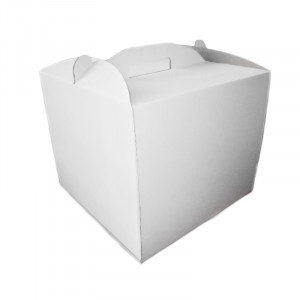 Коробка для торта белая, 350х350х350 мм