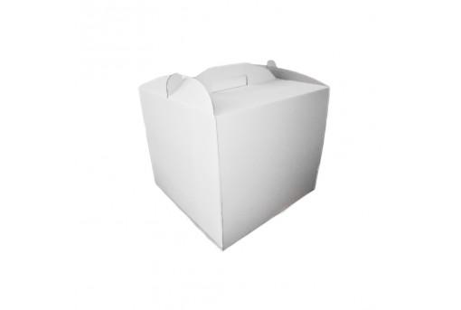Коробка для торта белая, 250х250х300 мм