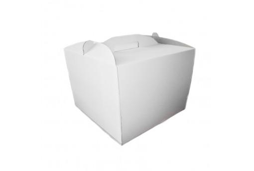 Коробка для торта белая, 400х400х300
