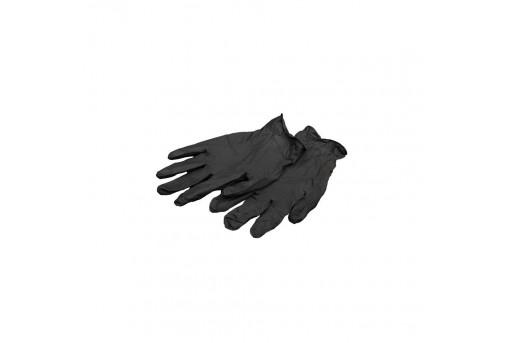 Перчатки нитриловые черные S, 50 пар