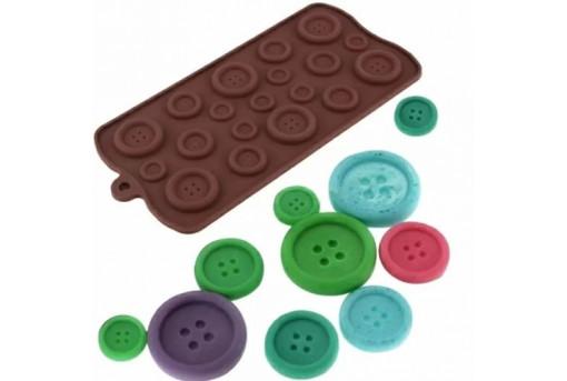 Силиконовая форма для конфет Пуговицы