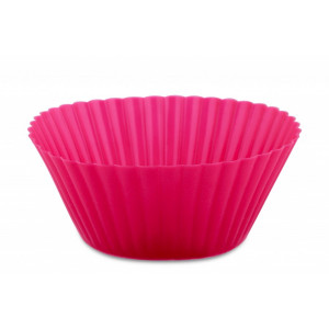 Форма бумажная для кексов розовая