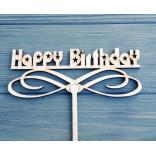Топпер для торта Happy Birthday