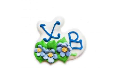 Сахарная фигурка Весточка с цветами №2