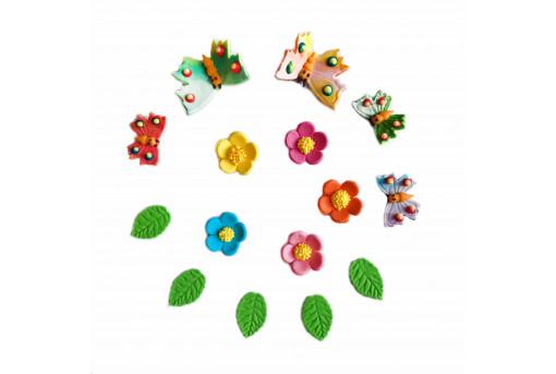 Сахарные фигурки Бабочки и цветочки