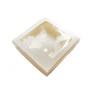 Коробка для пряников новогодняя белая