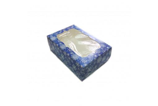 Коробка для кексов, маффинов, капкейков новогодняя на 6 шт.