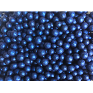 Сахарные жемчужины перламутровые синие