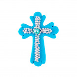 Сахарная фигурка Пасхальный крестик голубой