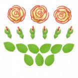 Сахарные фигурки Чайные розы желтые