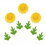 Сахарные фигурки Ромашки желтые