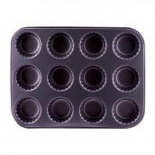 Форма металлическая для кексов на 12 штук