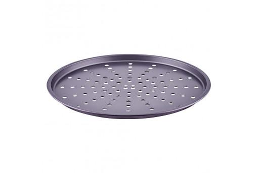 Форма металлическая для пиццы перфорированная