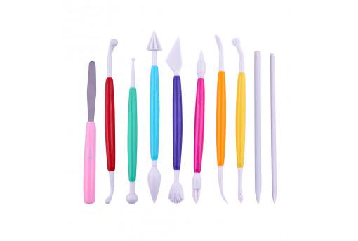 Палочки для моделирования мастики 10 штук