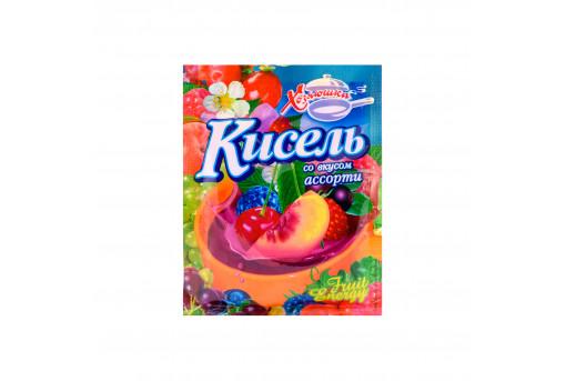 Кисель со вкусом фруктового ассорти Хозяюшка, 90 г