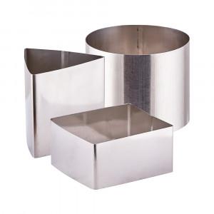 Набор металлических форм для гарнира Квадрат, круг и треугольник