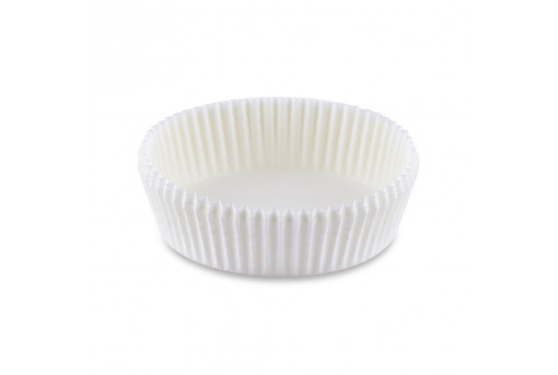 Форма бумажная для кексов низкая белая