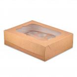 Коробка для кексов, маффинов, капкейков крафтовая на 12 шт.