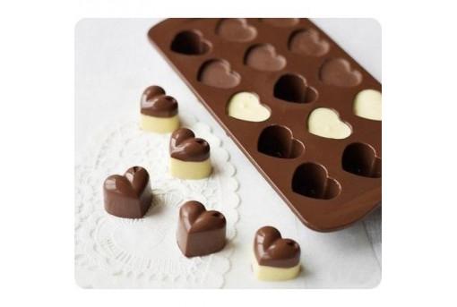 Форма силиконовая для конфет Сердечки