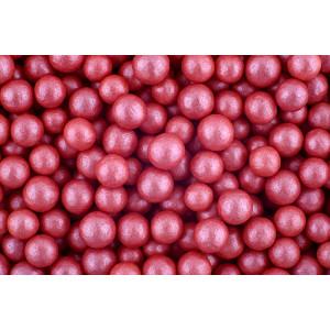 Сахарные жемчужины перламутровые красные