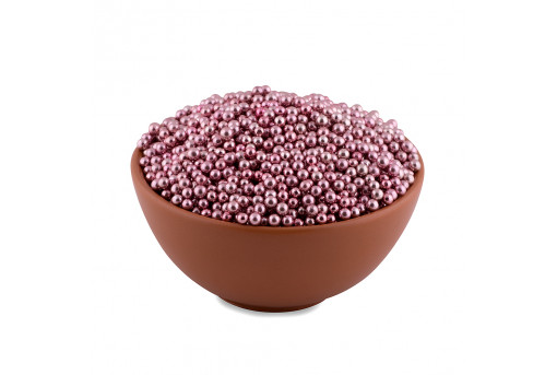 Сахарные жемчужины розовые 5 мм