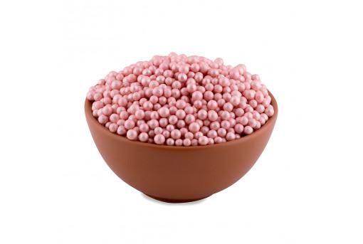 Сахарные жемчужины перламутровые розовые