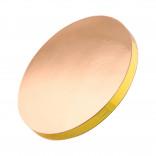 Подложка уплотненная круглая золотая 35 см